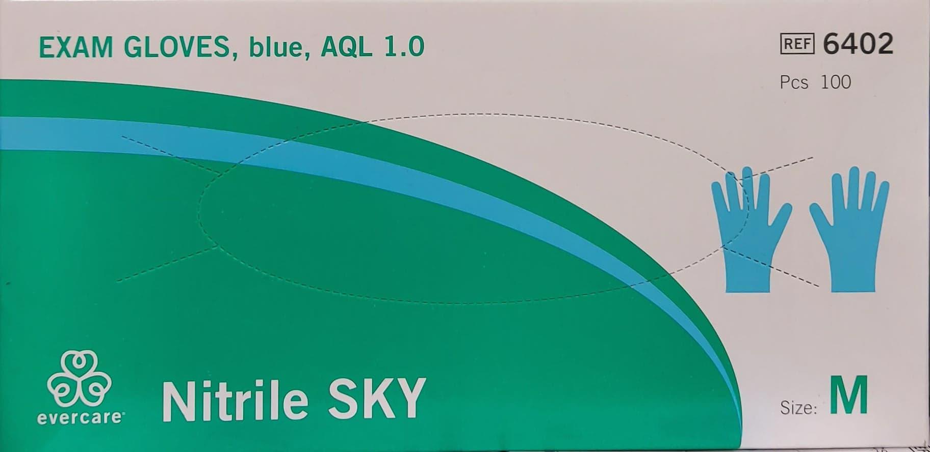 Nitriilikumikäsine, kertakäyttöinen 100 kpl, koko S,M, L Image