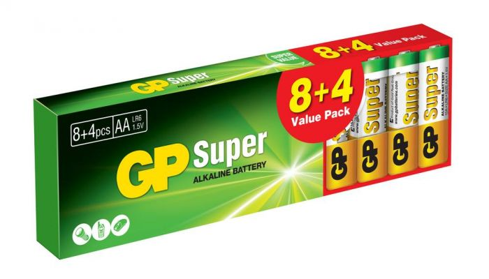 GP Super Alkaline AA, Promo 8+4 Image