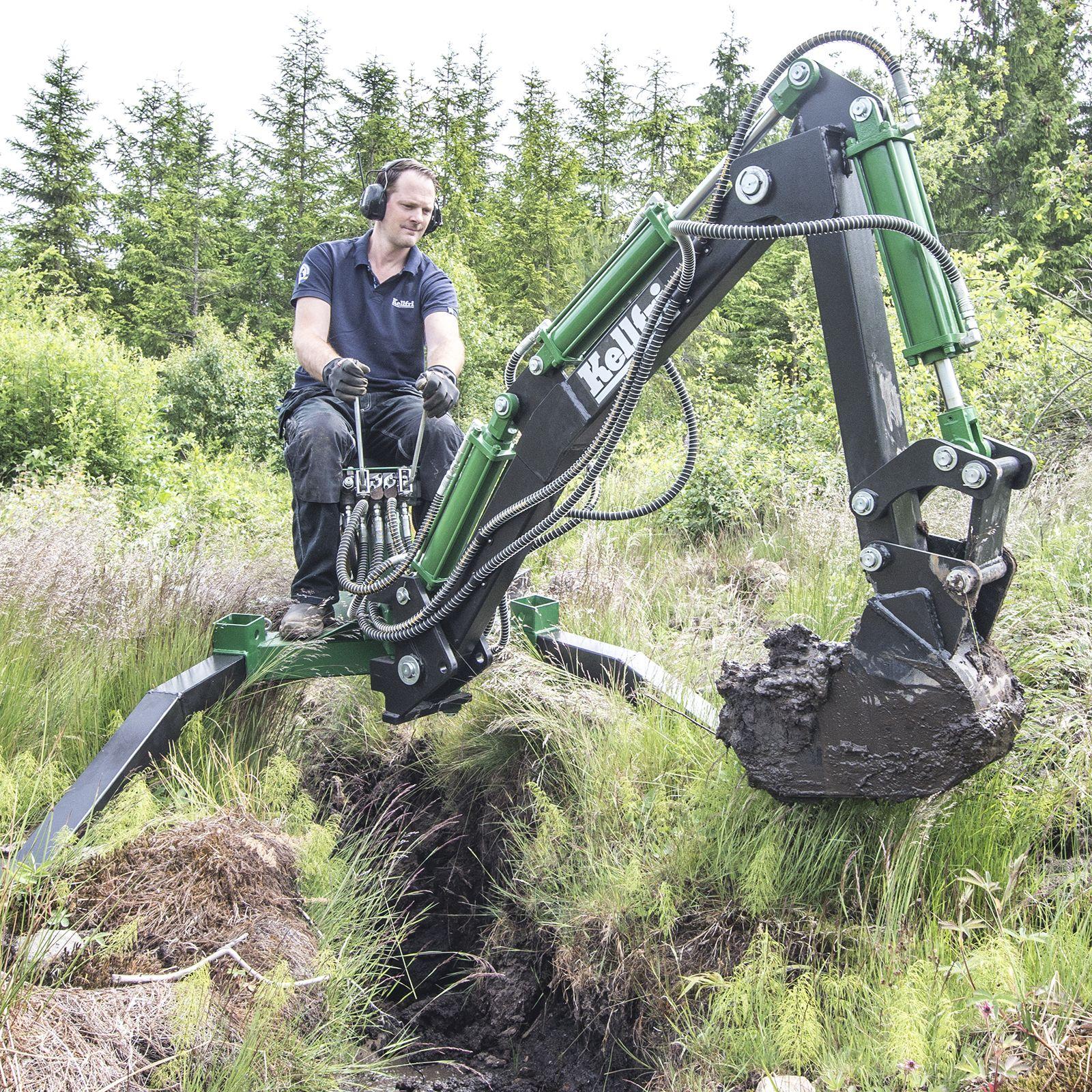 Kaivuulaite ATV Kellfrin kaivuulaite mönkijälle Image